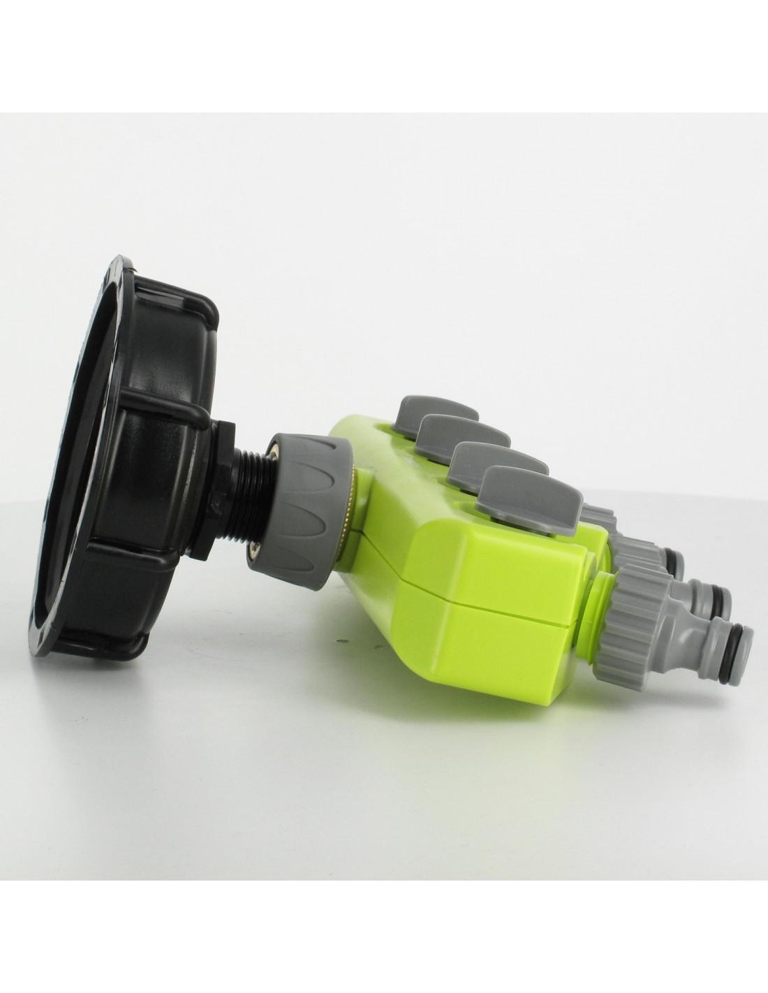raccord s100x8 cuve eau 4 robinets avec nez type gardena. Black Bedroom Furniture Sets. Home Design Ideas