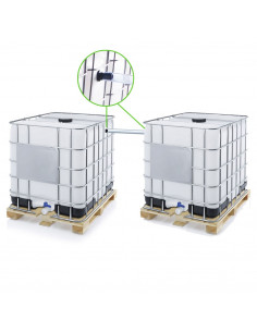 Kit de couplage 2 Cuves à Eau 1000 litres ECO Ø 25 mm