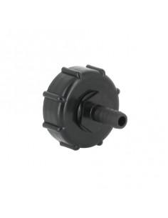 Raccord S60X6 cuve eau - Embout droit Diamètre 13 mm