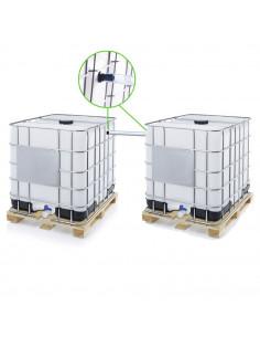 Kit ECO de couplage de 2 cuves à eau 1000 l - Ø 15 mm - Tuyau 50 cm