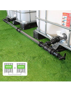 Kit de Raccordement pour 2 Cuves à eau 1000 L - filetage S60X6 / S60X6