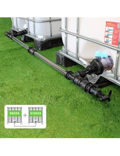Kit de Raccordement de 2 Cuves à eau 1000 L - filetage S60X6 / S100X8