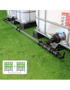 Kit de Raccordement de 2 Cuves à eau 1000 litres - filetage S100X8 / S100X8