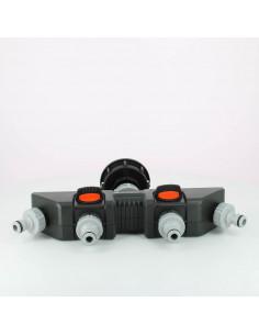 Raccord S60X6 cuve eau - 4 robinets avec nez - Gardena