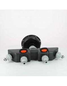 Raccord S100X8 cuve eau - 4 robinets avec nez - Gardena