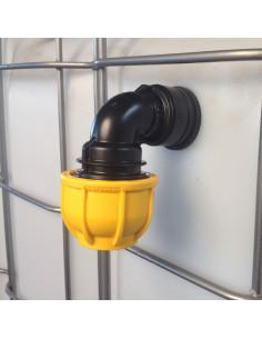 Trop-plein cuve eau 1000L - Coudé pression Diamètre 25 mm