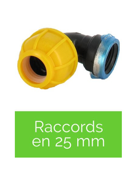 Raccords en 25 mm