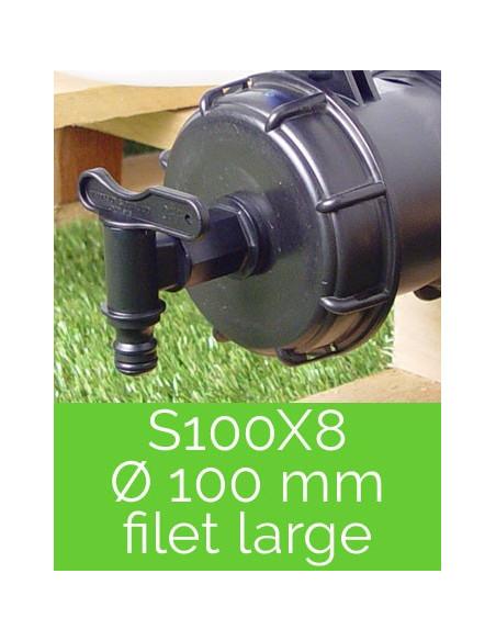 """Robinets & raccords de cuve 1000 L - S100X8 (3"""")"""