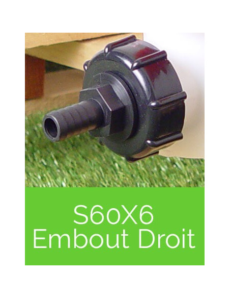 Raccords S60X6 Embout Droit