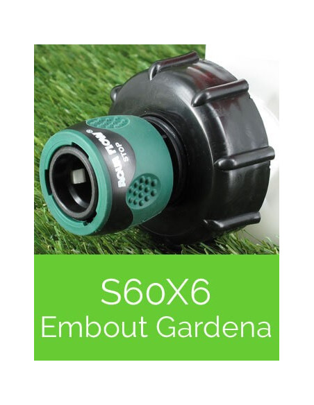 Raccords S60X6 embout Gardena