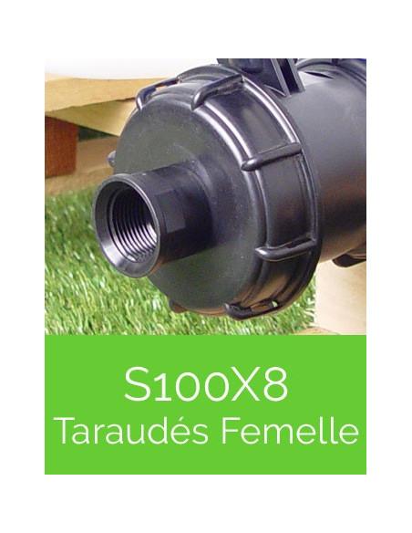 Raccords S100X8 Taraudés Femelle