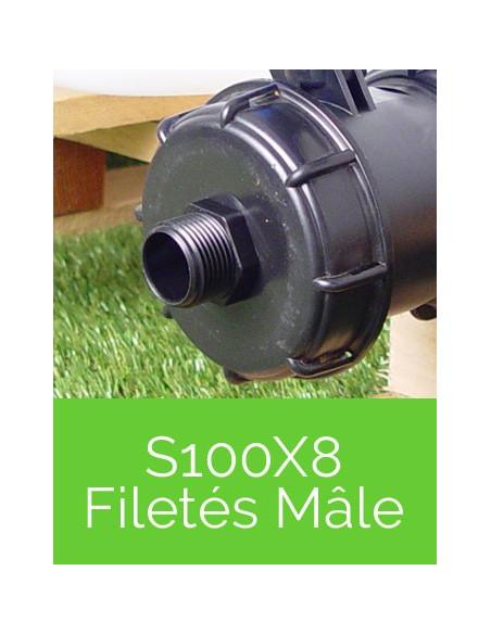 Raccords S100X8 Filetés Mâle
