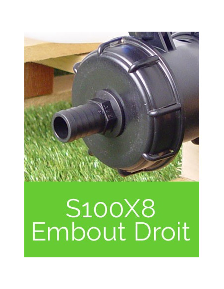 Raccords S100X8 Embout Droit
