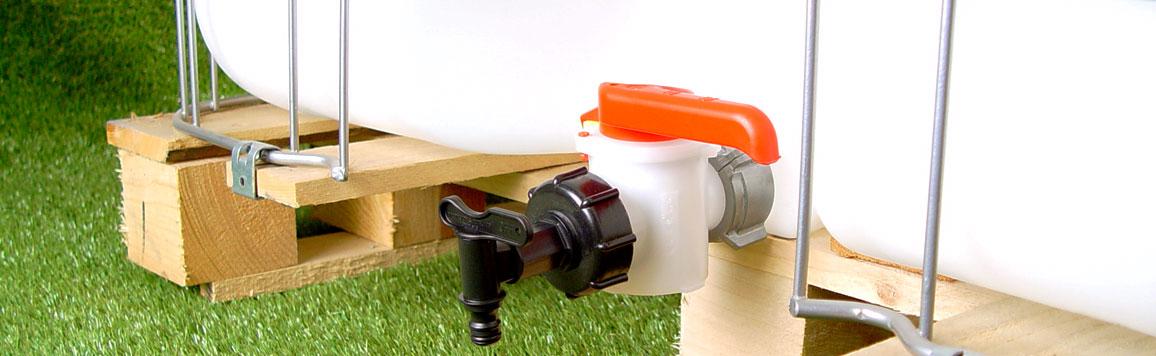 accessoires pour cuve eau 1000 litres raccords robinets vannes raccordement etc. Black Bedroom Furniture Sets. Home Design Ideas